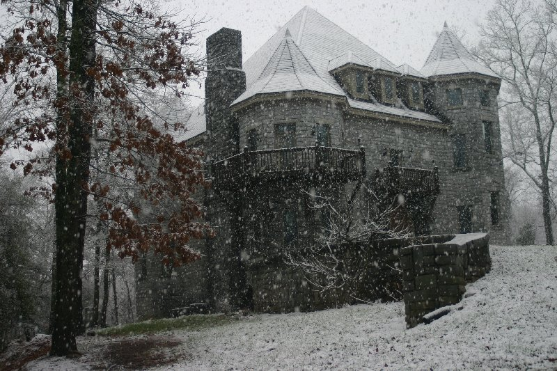 Castle Exterior - March 2009 - Taken during a late March snowstorm