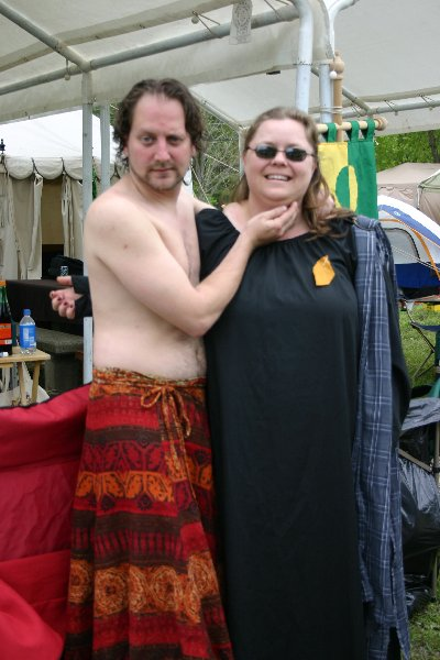 THLady Aislinn Chaomhanach & Cabana-Boy Lord Argus Caradoc at  Fool's War in April A.S. XXXIX (2005)