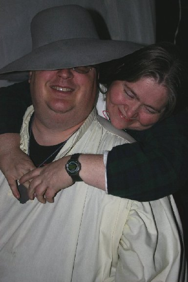 Lord Cletus McTerlach & Lady Magy McTerlach at Gulf Wars XIV in March A.S. XXXIX (2005)