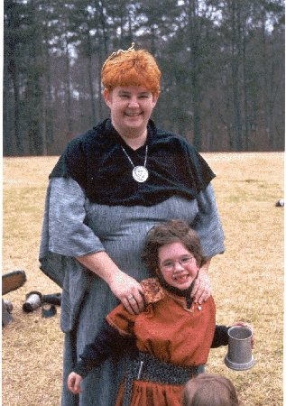 Gilbert of York with Mistress Christianna MacGrain at Golden Lily in February of A.S. XXXV (2001)