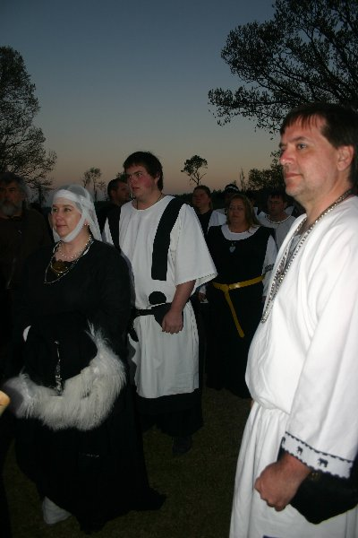 Lord Adam Caomhanach & THLady Aislinn Chaomhanach as Entourage at Gulf Wars XVI in March of A.S. XLII (2007)