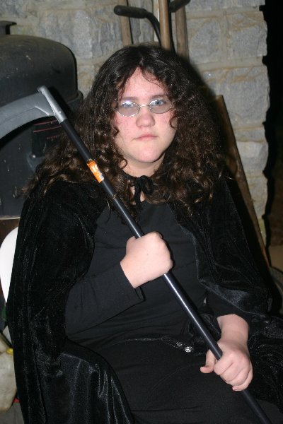 Cecelia de Lessay as The Grim Reaper, Halloween Dead Celebrity Bash 2008