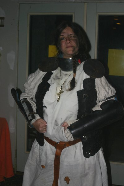 Dame Yseult de Montagu as Joan of Arc, Halloween Dead Celebrity Bash 2008