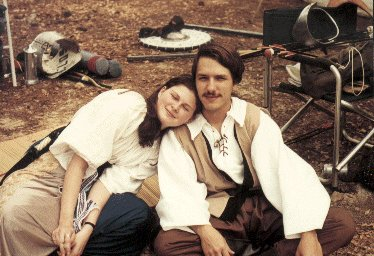 Lady Morfydd ferch Bronwen and Lord Ernán Ó Conaill at Fool's War in April of A.S. XXXI (1997)