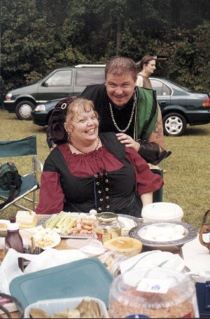 Lady Molli Rose Kekilpenny and Lord Valamir von Straubing at Red Tower in A.S. XXXIII (1998)