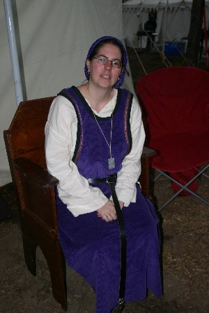 Lady Maegwyn Attewode at  Gulf War XV in March A.S. XL (2006)