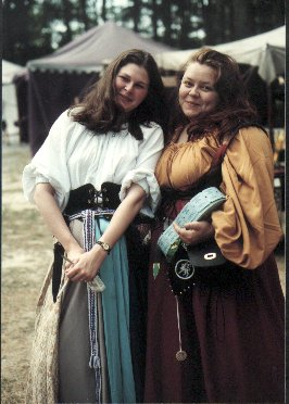 Lady Morfydd ferch Bronwen & Lady Aislinn Chaomhanach at Fool's War in A.S. XXXI (1997)