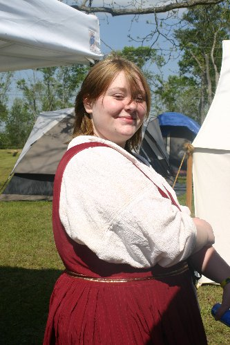 Sorcha in camp at Fool's War in April of A.S. XLIII (2009)