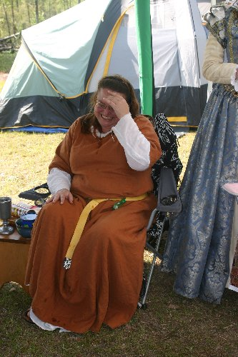 Lady Essyllt the day after her belting at Fool's War in April of A.S. XLIII (2009)